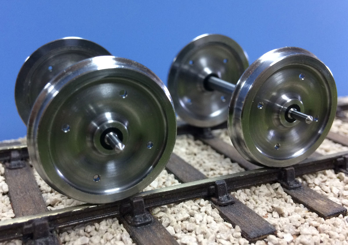 7mm Scale Solid Machined Coach Wheel Set