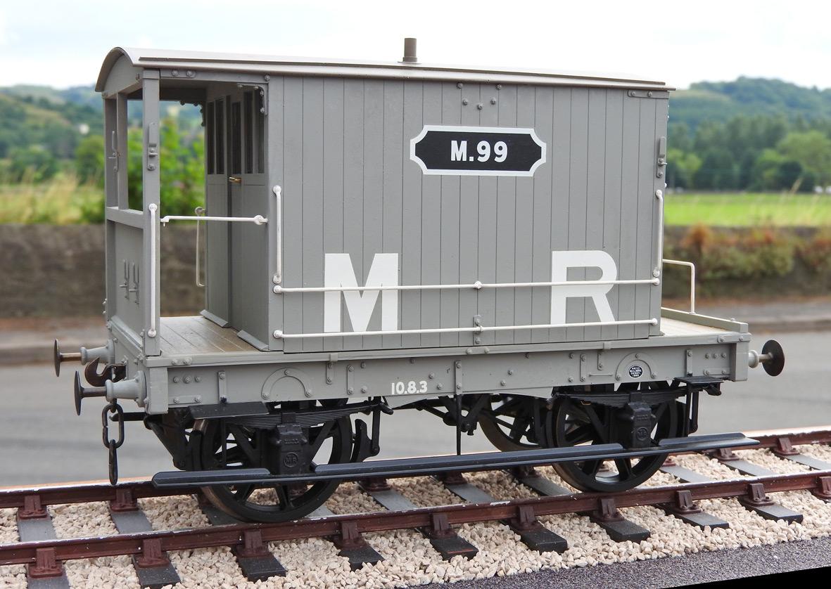 Slater's Plastikard - Midland Railway 4 wheel 10 Ton Brake Van